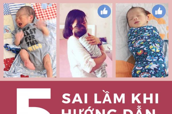 Những sai lầm thường gặp khi hướng dẫn bé sơ sinh tự ngủ 1
